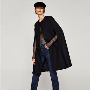 NWT ZARA cape coat RARE